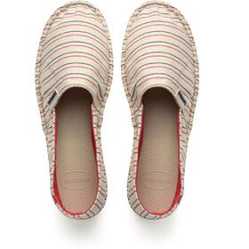 havaianas Origine III - Chaussures - beige/rouge